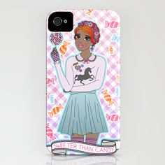Sweeter Than Candy - iPhone Case by jadeboylan http://society6.com/jadeboylan/Sweeter-Than-Candy_iPhone-Case