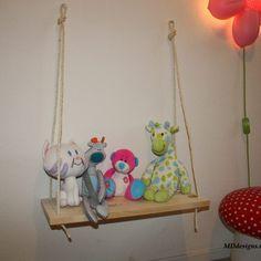 Mooi schommel plankje voor in de baby-kinderkamer. Voor als je net even iets anders wilt @mddesigns.nl