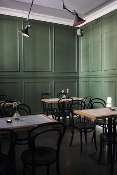 Remodelista says that this wall is close to Farrow & Ball's Chappell Green.