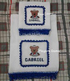 Mais um finalizado #Fraldas #Ursinho #Marinheiro #Gabriel #PontoCruz #Bordado #PontoSegredo #Crochê #Artesanato