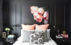 Inspiring Interiors: A beautiful black and blush bedroom crush