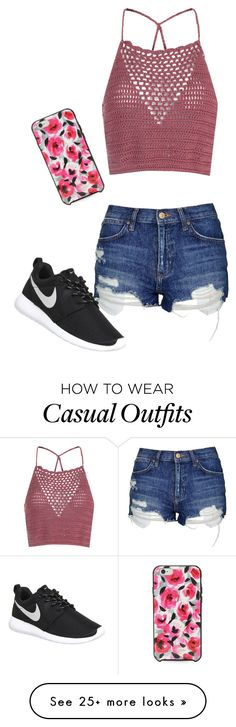 """""""Casual Spring Day"""" by kayleecat124 on Polyvore featuring Glamorous, Topshop, NIKE and Kate Spade"""