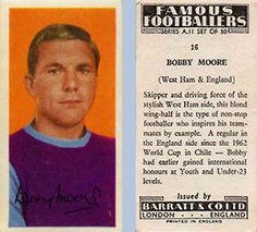 Soccer Cards, Football Cards, Bobby Moore, Action Pictures, West Ham, One Team, Cover Pages, World Cup