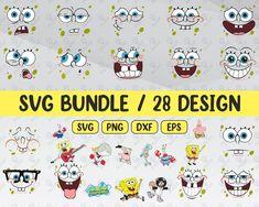 SpongeBob Svg  For Cricut, Sponge Bob Svg, SpongeBob Birthday Svg, Spongebob Vector, SpongeBob , Sponge Bob Svg Bundle