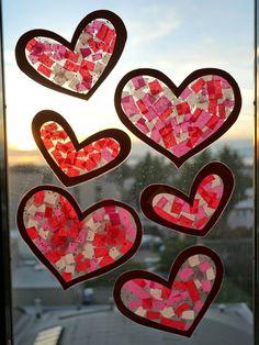 Little Hiccups: Valentine Heart Sun Catchers