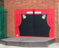 AMV Playground Equipment Case Studies - Outdoor Stages For Schools Eyfs Outdoor Area, Outdoor Stage, Outdoor Play Areas, Outdoor School, Outdoor Classroom, Outdoor Fun, Outdoor Theatre, Preschool Playground, Playground Games