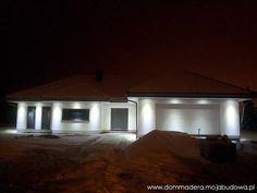 blog budowlany - mojabudowa.pl Bungalow House Design, 3 Bedroom House, Dream House Plans, Facade House, Kitchen Interior, Entrance, How To Plan, Gallery, House Ideas