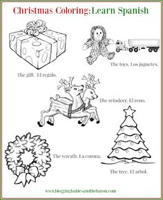 Spanish christmas color by number coloring songs and for Christmas coloring pages spanish