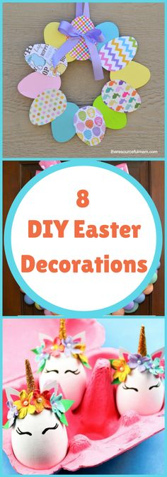 DIY--8 DIY Easter Decorations--The Organized Mom