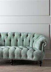 Light blue velvet sofa, beautiful color! #interior #design #sofa // Ethnic Chic