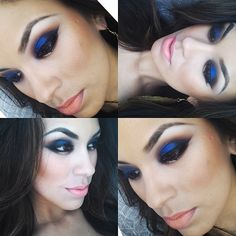 blue eyeshadow.  Never know how to wear this stuff....