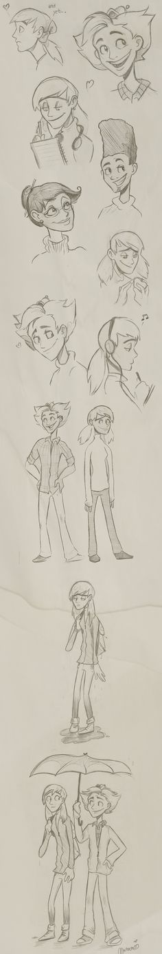 Hey Arnold character sketches -- HOLY CANOLI!!!!! Are you serious?!?!?!?!?!?! @Stacy Parks