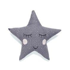 Cushion . Polka Dot Star - Grey