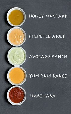 5 Easy Dipping Sauce Recipes and ideas that can be made in 5 minutes to complement almost every appetizer you're serving for gameday! Sauce Recipes, Cooking Recipes, Easy Recipes, Keto Recipes, Healthy Recipes, Dipping Sauces For Chicken, Chicken Sauce, Creamy Avocado Sauce, Meatball Sauce