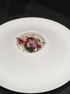 #MFM13 Cebiche vegetal con algas, flores, miel salvaje y cítricos