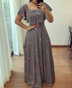 I think dresses like this look soooo much better on girls and women than those skin tight dresses. Modest Dresses, Cute Dresses, Casual Dresses, Modest Clothing, Funky Dresses, Modest Wear, Modest Outfits, Tight Dresses, Women's Clothing