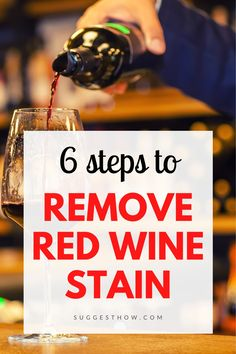 If you are constantly worried about not to spill a single drop of red wine on your shirt or sofa, this guide is for you. Learn How to Remove Red Wine Stain from carpet or clothes with 6 easy diy steps! Deep Cleaning Tips, Household Cleaning Tips, Cleaning Hacks, Homebrew Recipes, Wine Recipes, Soup Recipes, Wine Chart, Red Wine Stains, Stain Remover Carpet