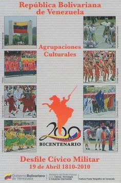Postal: Agrupaciones Culturales 1/6 (Venezuela) (Ipostel - Military Civic Parade April 19, 1810 - 2010) Col:ve_ipostel_DCM_01