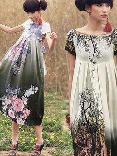 dream of garden maxi dress