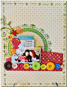 circles/buttons--By Kelly Woods --Wendy Schultz via Scrapbook.com