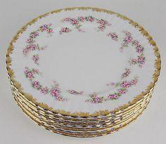 "8 x Dinner Plates 10 1 4"" Royal Albert Dimity Rose Bone China England   eBay"