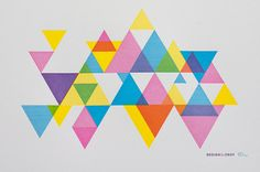 CMY Hey Process Color Triangle Print by desTroy on Etsy