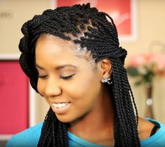 Senegalese Twist Hairstyles Easy Hairstyle ✿ Spring ✿  Half Updo With Braid  Senegalese