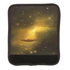 UFO alien galaxies space luggage handle wraps