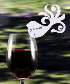Bird decor for wine glass or drink