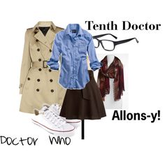 """Doctor Who- The Tenth Doctor"" by hannahshu on Polyvore"