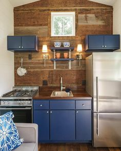 No corners cut on this kitchen!!! Photo by Driftwood Homes // #tinyhouse