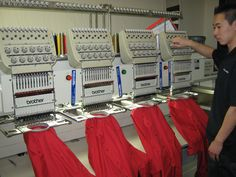 Adjusting the machines for the best result!