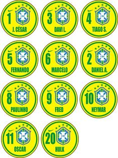 Time+de+botão+da+Seleção+Brasileira+2014+São+10+botões+de+acrílico+torneado.+Obs:+Botões+NOVOS+Diamento:+45+mm+Ângulo:+13°++Cava:++1mm+Altura:+6+mm+Acompanha:+1+goleiro.+1+ficha+1+goleira+1+bolinha+Faço+times+por+encomenda!!!!+Não+muda+o+Preço!!!!!+Vendo+goleiras,+goleiros+,+fichas+e+bolinhas!!! R$ 60,00
