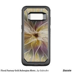 Floral Fantasy Gold Aubergine Abstract Fractal Art OtterBox Commuter Samsung Galaxy S8 Case