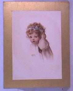 "Bessie Pease Gutmann, Illustrator, ""Hearing"", circa 1909, part of the ""Senses"" series."