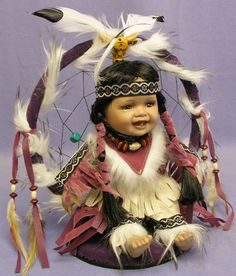 indian girl doll in dreamcatcher