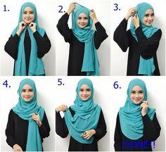 Beautiful Everyday Hijab Tutorial For Beginners