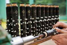 In the process of making Buffet clarinets.