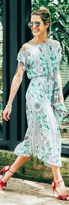 Tory Burch Asilomar Dress in White Garden Party