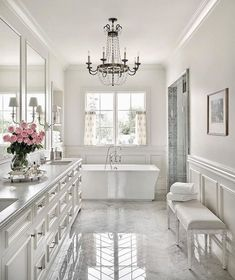 Luxury Bathroom Master Baths Beautiful is definitely important for your home. Whether you pick the Interior Design Ideas Bathroom or Luxury Master Bathroom Ideas, you will make the best Luxury Bathroom Master Baths Bathtubs for your own life. Bad Inspiration, Bathroom Inspiration, Bathroom Ideas, Bathroom Renovations, Bathroom Vanities, Bathroom Remodelling, Bathroom Cabinets, Bathroom Goals, Bathroom Designs