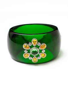 Jeweled Emerald Cuff.