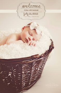 Newborn photography, birth announcement, beautiful baby girl