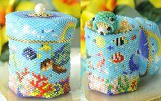 Baby BeadsMania: Diary sense ☆ stitch set of handmade kit 2018 beads Seed Bead Projects, Beaded Boxes, Global Market, Peyote Stitch, Seed Beads, Coin Purse, Kit, Jewelery, Beading