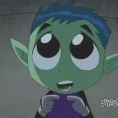Beast boy is so cute!!!!!! Just look at that face X)