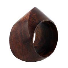 Interesting chunky wood bracelet
