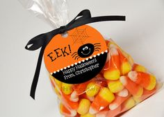 Personalized Halloween Spider Favor Tag Eek DIY by NHACreatives