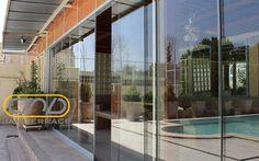شیشه کشویی داخلی و خارجی نمونه کار شرکت جام تراس | جام تراس | jamterrace