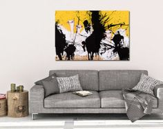 a splash of #yellow and #ostriches in you own living room