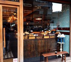 Exmouth Coffee, London. Loadsa wood interior...love it!