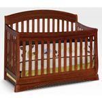 Nebraska Furniture Mart – Delta Solutions 4-In-1 Convertible Crib in Dark Cherry